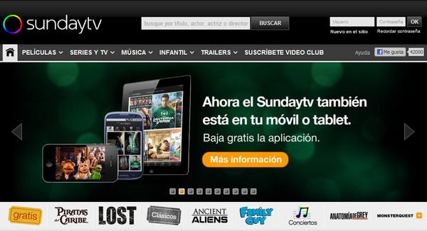 sundaytv sunday.tv otra opción para ver series y películas gratis o de pago
