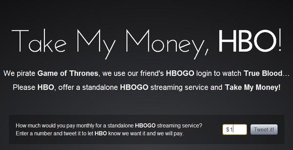 take my money hbo Aparece iniciativa que pide a HBO cobrar solamente por el servicio HBOGO