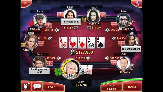 Juego de Word Series of Poker para móviles es presentado por EA