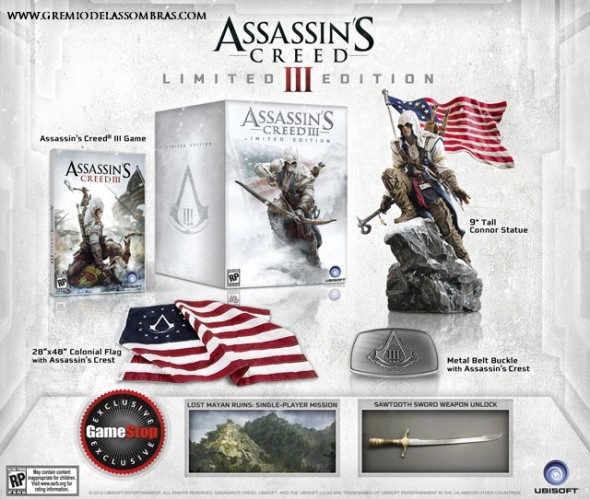 AC3LimitedEdition 590x499 Assassins Creed III Edición Limitada es presentada por Ubisoft
