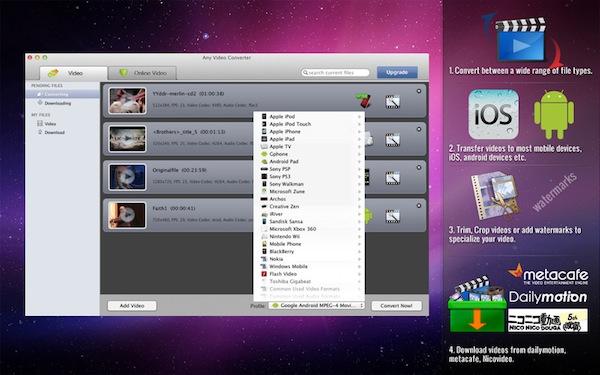 Convierte archivos entre formatos con estas geniales aplicaciones para tu computadora - Any-video-converter-lite-mac