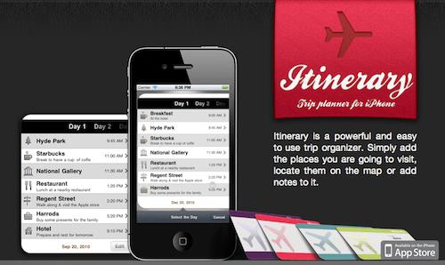 Itinerario, planea todo lo que vas a hacer en tus vacaciones con es increíble aplicación