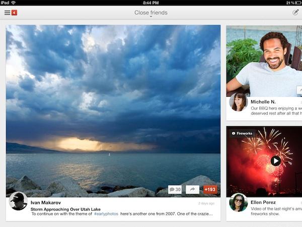 Google+ para iPad disponible para descargar - Google-plus-ipad