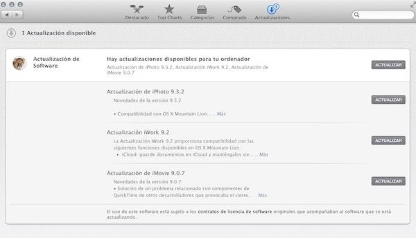 OS X 10.8 Mountain Lion, uno de los mejores sistemas operativos de Apple [Reseña] - Mac-app-store-actualizacion
