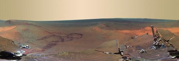 La NASA publica impresionante foto del Invierno en Marte
