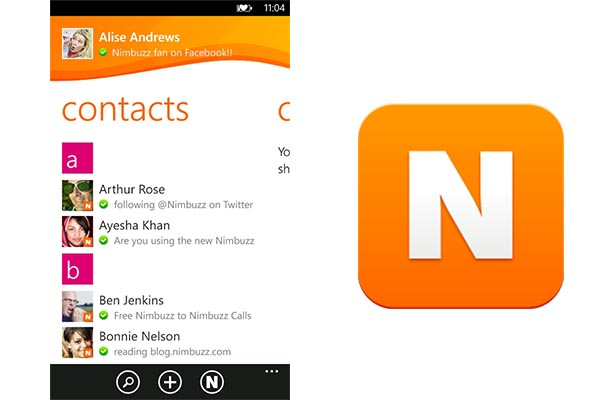 Nimbuzz windows phone Nimbuzz lanza su aplicación para Windows Phone