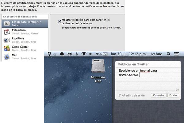 Cómo personalizar el Centro de Notificaciones en Mountain Lion - Twitter-centro-notificaciones