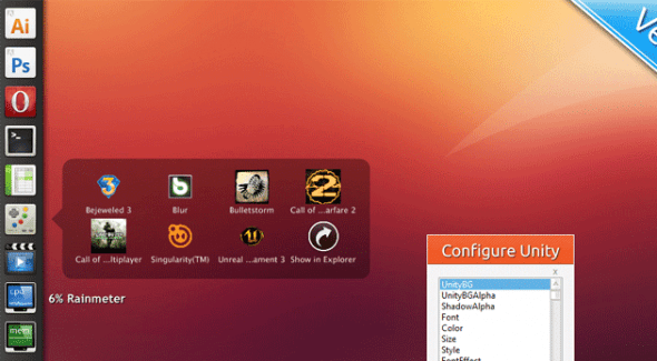Personaliza tu escritorio de Windows con estos skins de Rainmeter - Unity-590x325