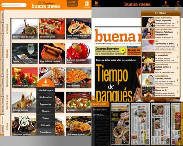 Consulta recetas de cocina desde tu iPad con Buena Mesa - buena-mesa