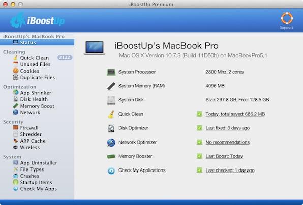 iBoostUp mac iBoostUp, otra genial aplicación para optimizar tu Mac