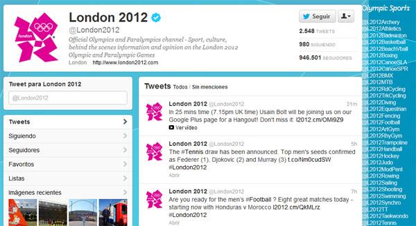Sigue las cuentas oficiales de Twitter para cada deporte de Londres 2012 - juegos.olimpicos-twitter