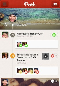 Path, tu red social privada, se actualiza a su versión 2.5 incluyendo mejoras importantes