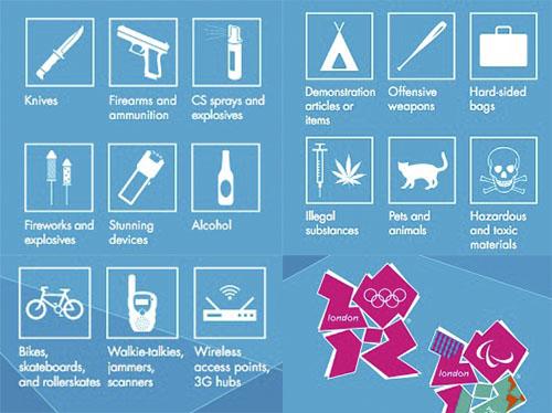 objetos prohibidos juegos olimpicos londres 2012 Realizar tethering en los Juegos Olímpicos 2012 está prohibido