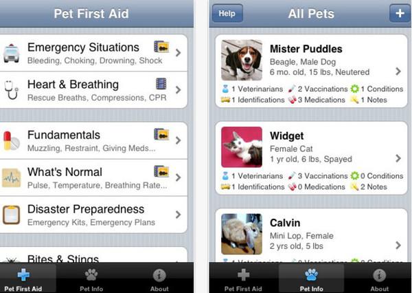 pet first aid Pet First Aid, excelente app para llevar un control de tus mascotas