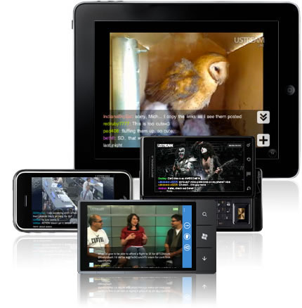 ustream 3 Apps para ver streams desde tu smartphone