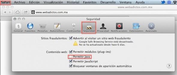 Cómo desactivar Java RE 1.7 en Internet Explorer, Firefox, Safari y Chrome - Desactivar-Java-safari-590x252