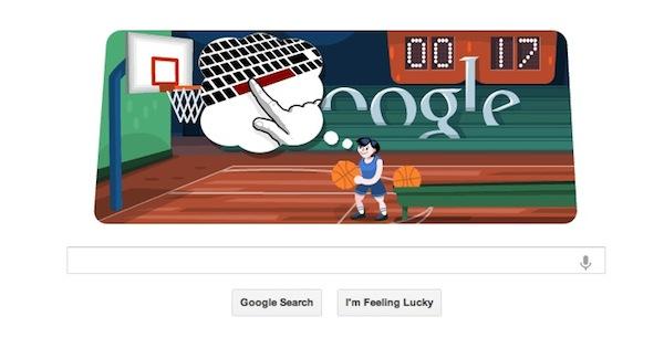 Doodle Basquetbol Google Google nos hace tirar hacia la canasta con su Doodle dedicado al Basquetbol Olímpico