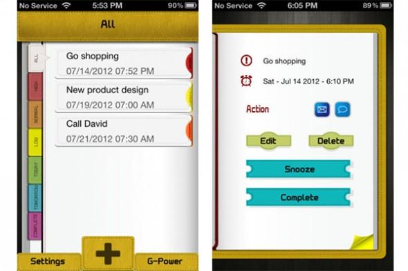 E reminder iphone 590x393 Recuerda tus pendientes con E Reminder para iPhone