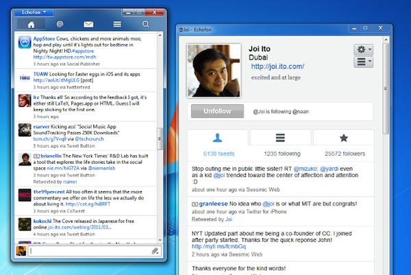 Echofon windows Echofon, un genial cliente de Twitter alternativo para Windows y Mac