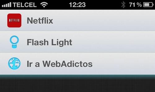 accesos directos speed u 1 Agregar accesos directos en el centro de notificaciones del iPhone sin Jailbreak con Speed U