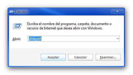 Crear USB booteable con una copia de Windows 8 funcional - diskpart