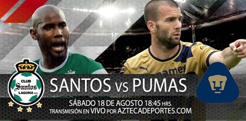 santos pumas apertura 2012 Santos vs Pumas en vivo (Apertura 2012)