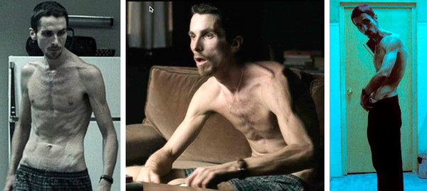 the machinist La transformación de Christian Bale a través de los años