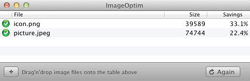 Reducir el peso de imágenes en Mac con ImageOptim - ImageOptim