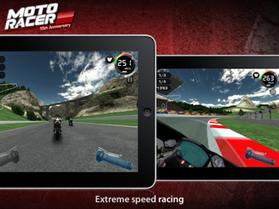 Moto Racer 15th Anniversary un divertido juego de carreras de motos para iOS - Moto-Racer-iOS