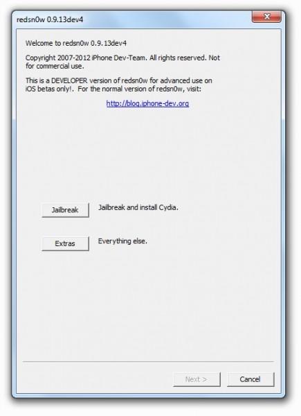 Cómo hacer jailbreak (tethered) en iOS 6 para dispositivos con procesador A4 - Redsn0w