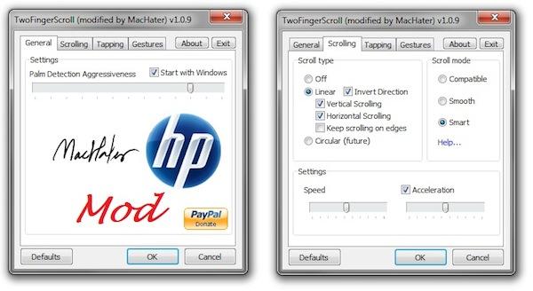 Mejora el touchpad de tu PC con TwoFingerScroll - TwoFingerScroll