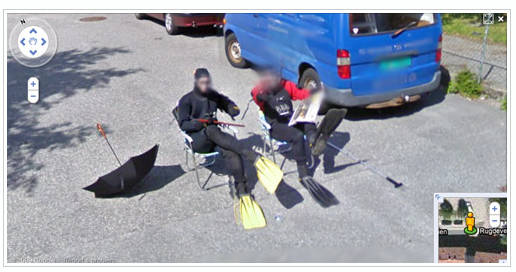 buzos street view Imágenes curiosas captadas en Google Street View