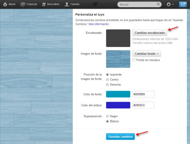 cambiar banner twitter 3 Cómo cambiar el encabezado o banner de tu perfil de Twitter