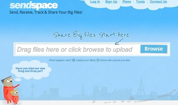 Enviar archivos de gran tamaño con SendSpace.com - enviar-archivos-pesados-sendspace