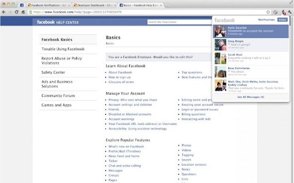 facebook notifications 590x368 Notificaciones de Facebook en tu navegador Chrome