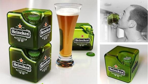 Crean prototipo de botella Heineken en forma de cubo - heineken-botella-cubo