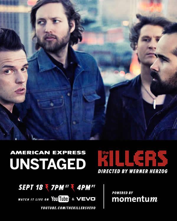The Killers en vivo desde Nueva York en el American Express Unstaged - the-killers-en-vivo