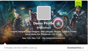 Dale un toque original al encabezado de tu perfil de Twitter con Twitrcovers