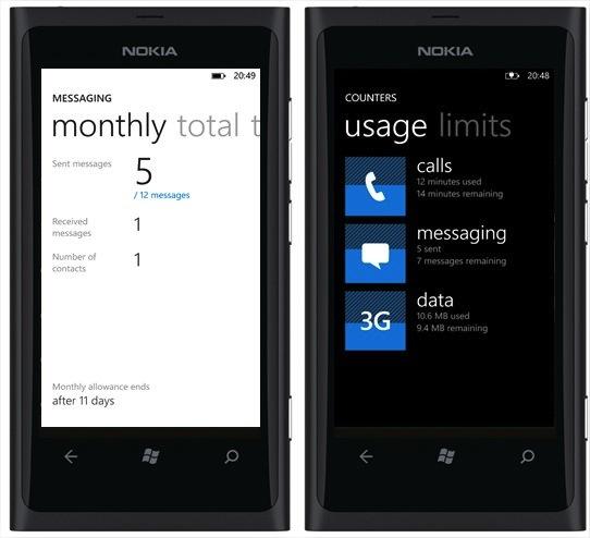 Contadores, una app para los Lumia con Windows Phone para medir el consumo de datos y minutos - Counters-for-Lumia