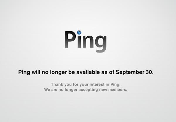 Ping es erradicado de iTunes - Ping-Desaparece