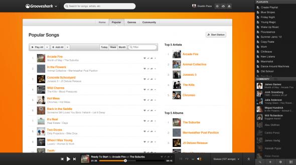 Grooveshark rediseña su sitio con importantes mejoras sociales y opciones para artistas - Popular-590x329