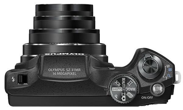 Olympus presenta la SZ-31MR iHS con zoom de 24 aumentos - SZ-31MR_BLK_TOP