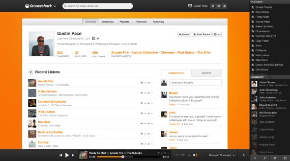 User 590x329 Grooveshark rediseña su sitio con importantes mejoras sociales y opciones para artistas