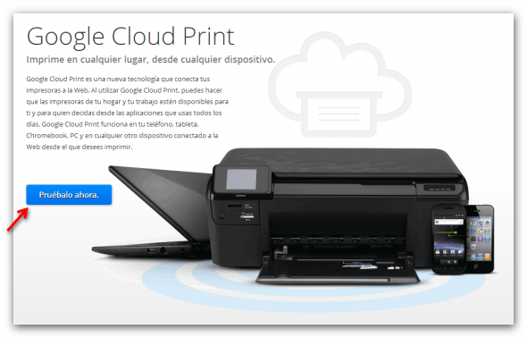 cloud print 590x378 Cómo eliminar dispositivos de la extensión Chrome to Mobile para Google Chrome