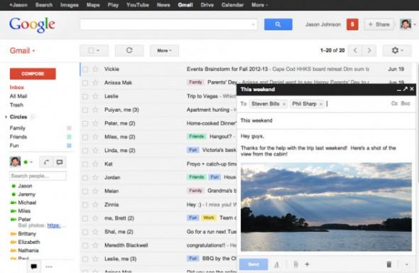 gmail redactor 590x384 Gmail se rediseña y mejora su redactor de mensajes