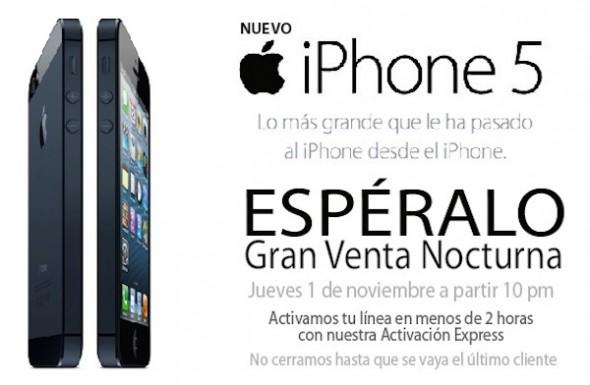 iPhone 5 telcel 590x385 iPhone 5 en México la primera semana de noviembre con Telcel, Iusacell y Movistar