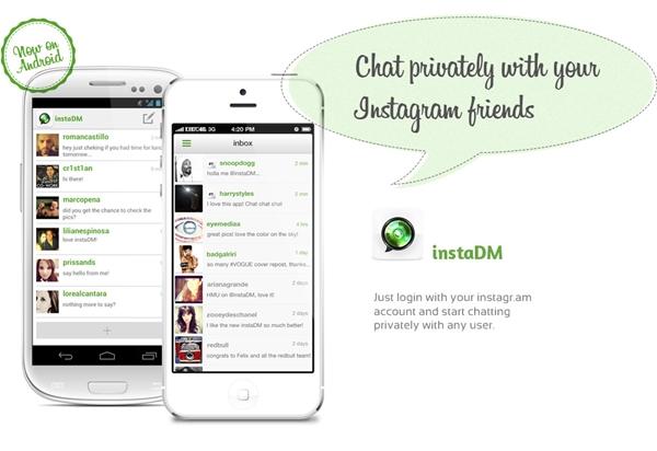 Enviar mensajes a usuarios de Instagram con instaDM desde Android - instadm-android