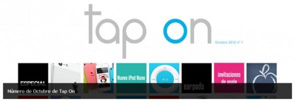 Se presenta Tap On, nueva revista interactiva para iPad que nos habla de iOS - tap-on-magazine-ipad-590x204