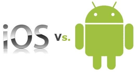 iOS desplaza a Android a la segunda posición como el SO móvil mas usado gracias al iPhone 5 - Android-vs-iOS