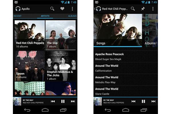 Apollo, el cliente oficial de CyanogenMod por fin disponible en Google Play - Apollo-android
